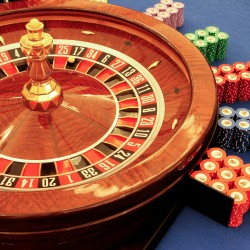 roulette table in casino close-up